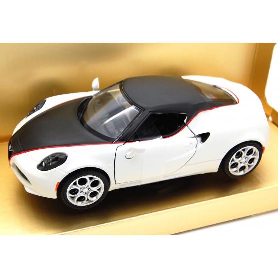 """Alfa Romeo 4C """"satin paint series"""" 2014 matt white 1:24"""