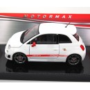 Abarth Fiat 500 white 2009 1:24