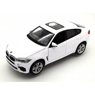BMW X6M 2018 white 1:24