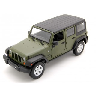Jeep Wrangler Unlimited Sport 2015 matt olive green 1:24