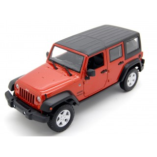 Jeep Wrangler Unlimited Sport 2015 Metallic Orange 1:24