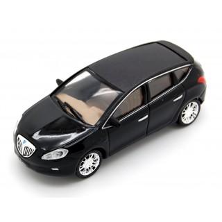 Lancia Delta anno 2008 Nero lucido - tetto nero opaco 1:64