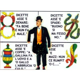 "Magnete Frasi Celebri Napoletane ""Assi Carte Napoletane..."""