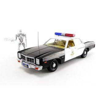 "Dodge Monaco Metropolitan Police 1977 ""Terminator"" con T-800 Endoskeleton 1:18"