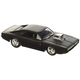 Dodge Charger R/T Dom's 1970 Fast & Furious Nero Opaco 1:24