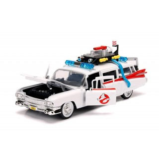 "Cadillac Ambulance 1959 ""Ghostbusters Ecto-1"" white/red 1:24"