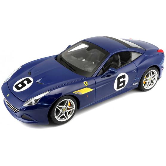 """Ferrari California T """"Sunoco"""" Blu 1:18"""
