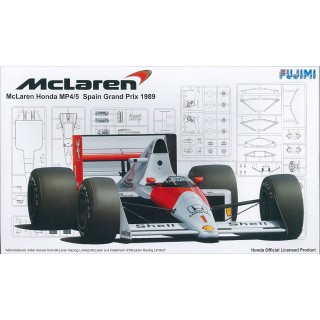 Mclaren Honda Mp4/5 Spain Grand Prix 1989 Kit 1:20