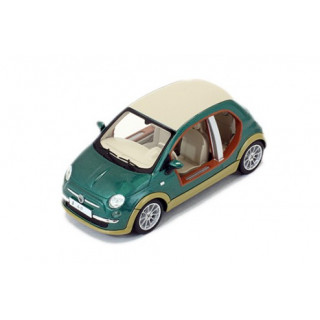 Fiat 500 Castagna Ev Kadhafi verde 2009 1:43