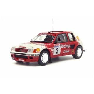 Peugeot 205 T16 Group B Belga Rallye Ypres 1985 1:18