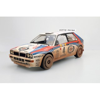 Lancia Delta HF Integrale 16V Martini Winner Montecarlo 1992 Auriol/Occelli Dirty version 1:18