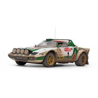 Lancia Stratos HF 2nd Rallye Sanremo 1976 (Muddy Version) S.Munari/S.Maiga 1:18
