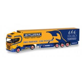 """Scania CR Highroof semirimorchio frigo """"Sturm-Eigro"""" (D) 1:87"""