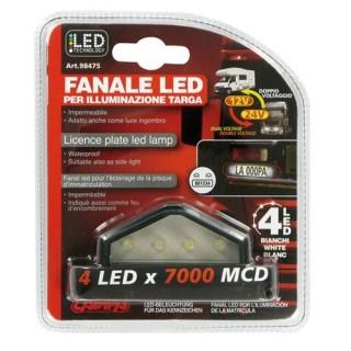 Fanale 4 Led illuminazione targa