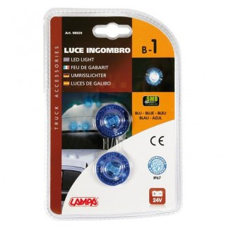 Coppia di 1 luci a Led 24V - Blu B-1