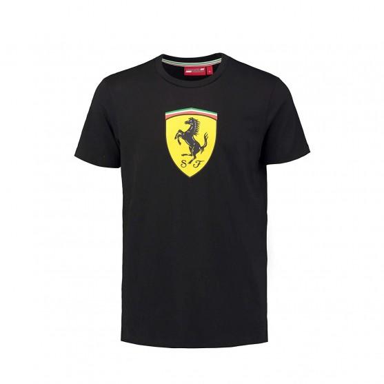 Scuderia Ferrari T-Shirt Scudetto Nera