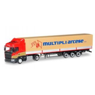 "Scania R 2013 HL semirimorchio su tela ""Multipli Arcese"" (I) 1:87"