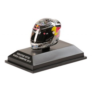 Sebastian Vettel Arai Helmet Red Bull Racing 2010 Abu Dhabi World Champion 1:8