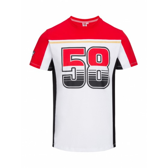 Marco Simoncelli 58 T-shirt Ufficiale 58 contrasto