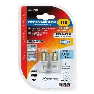 Mega-Led Hi-Power 10  Coppia Lampade 10-30V (T10)