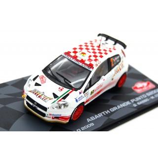 Fiat Abarth Grande Punto S2000 Rally Monte Carlo 2009 G. Basso - M. Dotta 1:43