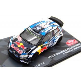Volkswagen Polo R Red Bull WRC Rally Monte Carlo 2016 S. Ogier - J. Ingrassia 1:43