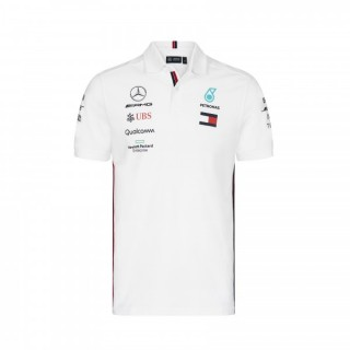 Mercedes AMG Petronas F1 Polo Replica White 2019