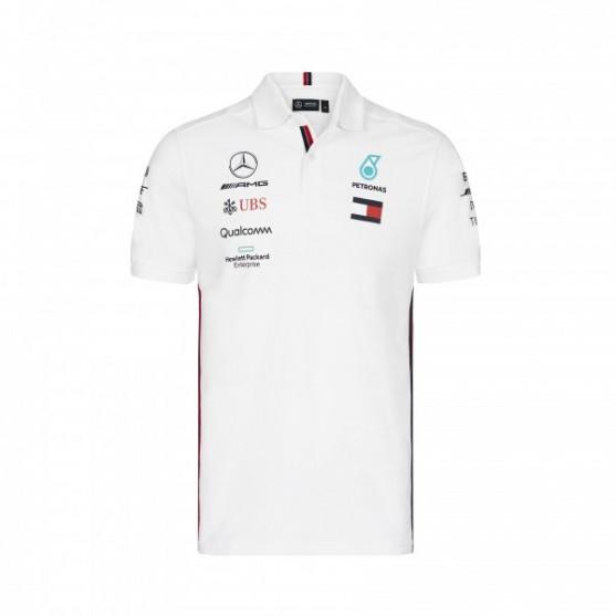Mercedes AMG Petronas F1 Polo Replica White 2019