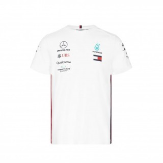 Mercedes AMG Petronas F1 T-shirt Replica 2019 Bianca