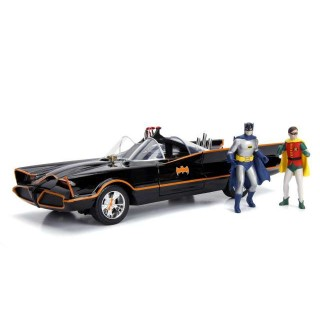 BATMOBILE 1966 with Batman & Robin Figure 1:18