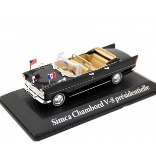 Simca Chambord V-8 1961 Presidente Kennedy - Charles De Gaulle 1:43