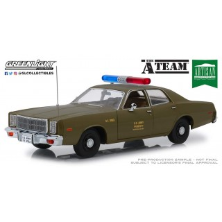 "Plymouth Fury U.S. Army 1977 ""The A-Team"" Police Colonel Roderick Decker 1:18"