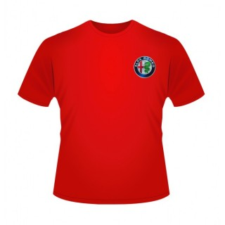 Alfa Romeo Team F1 T-Shirt Front Logo Red 2019