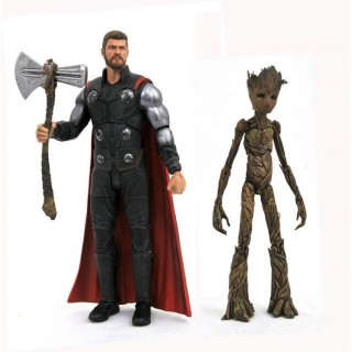 Thor & Teenage Groot Avengers Infinity War 17 cm Action Figure