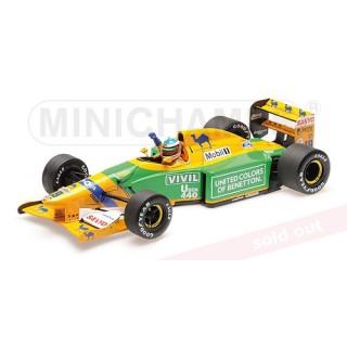 Benetton Ford B192 F1 1992 3rd place German Gp Michael Schumacher 1:18