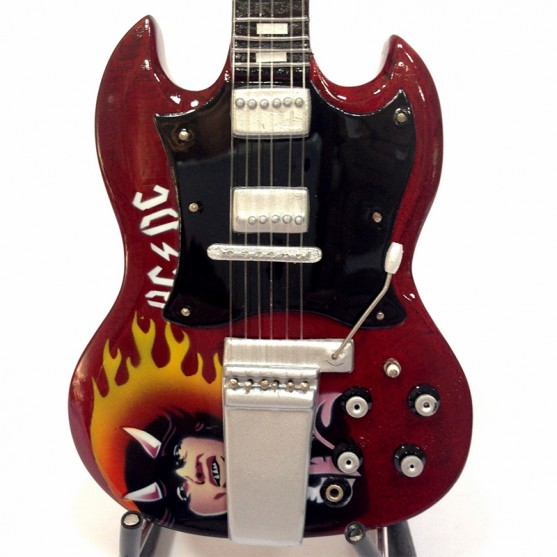 Mini Guitar Replica AC / DC Angus Young Tribute
