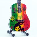 Mini Guitar Replica Bob Marley Tribute One Love