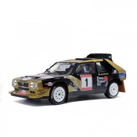 Lancia Delta S4 Rallye des Asturias black/gold 1:18