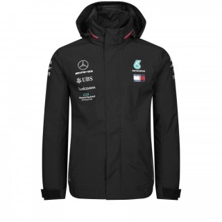 Mercedes AMG Petronas F1 Rain Jacket Replica Black 2019