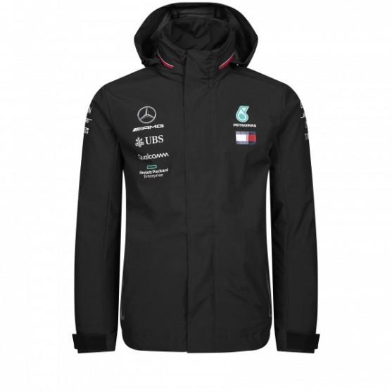 Mercedes AMG Petronas F1 Rain Jacket Replica Black 2019