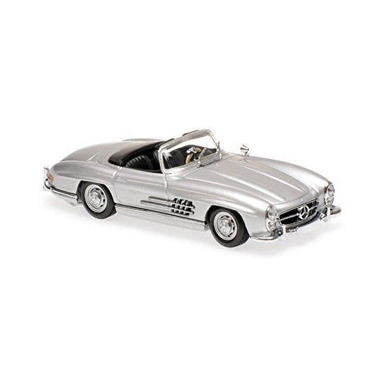 Mercedes Benz 300SL Roadster 1955 silver 1:43