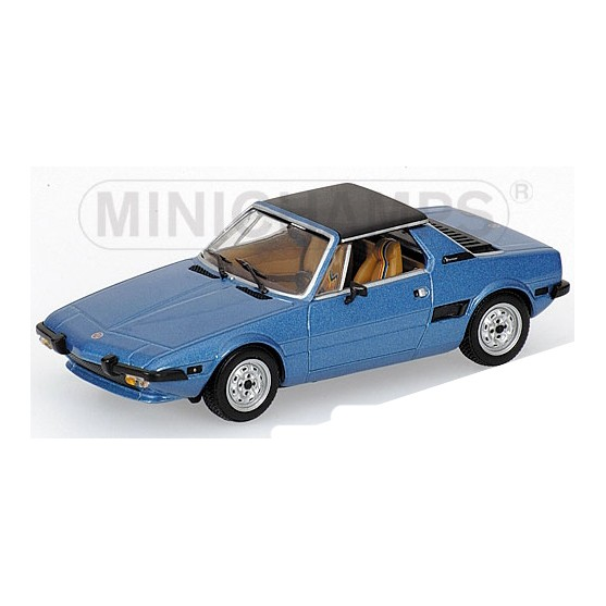 Fiat X1/9 Yellow 1974 Blue Metallic 1:43
