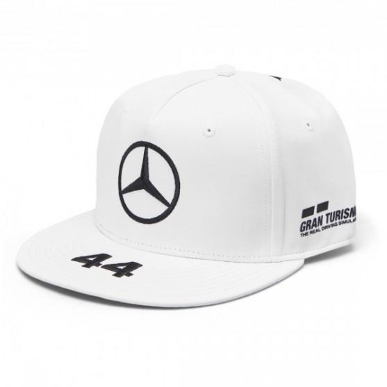 nuovo massimo selezionare per lo spazio nuovi oggetti Mercedes-Amg Petronas F1 2019 Cappello Lewis Hamilton 44 Flat White