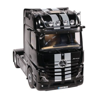 Mercedes-Benz Actros 2 1863 Gigaspace 2018 4*2 black with stripes 1:18