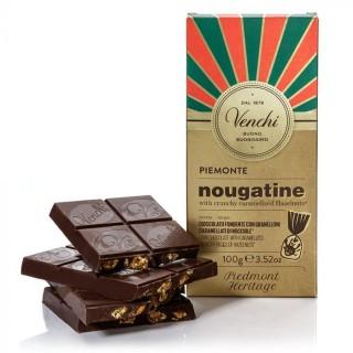 Tavoletta di cioccolato fondente 56% Nougatine 100g Venchi