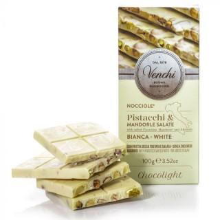 Tavoletta di cioccolato bianco con frutta secca salata senza zuccheri aggiunti 100g Venchi