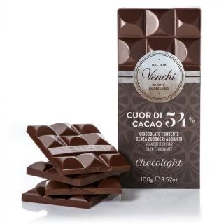 Tavoletta di cioccolato fondente 54% senza zuccheri aggiunti 100g Venchi