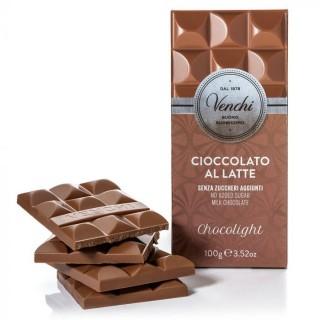 Tavoletta di cioccolato al latte senza zuccheri aggiunti 100g Venchi