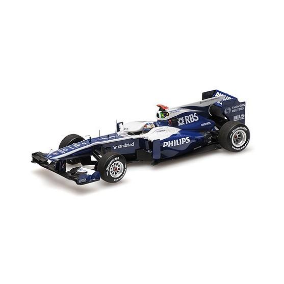 Williams Cosworth FW 32 AT&T 300 gp Rubens Barrichello 2010 Belgian GP 1:43