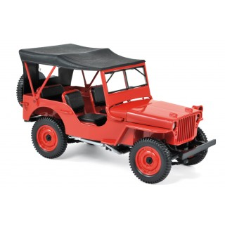 Jeep Willys 1942 Red 1:18